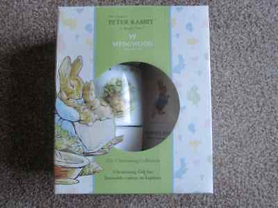 WEDGWOOD Peter Rabbit The Christening Collection Gift Set MONEY BOX & BOOK