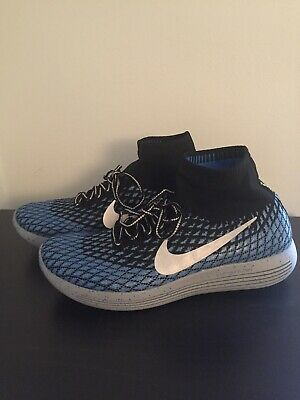 1bc5ff29ea7 Nike Lunarepic Flyknit Running Shoes Men s Size 12 Blue Gray 849664 004 NEW