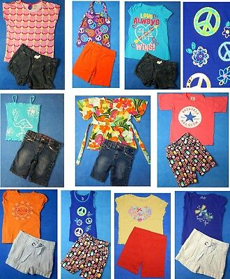 15 piece lot Nice Clean Girls Spring Summer clothing size 5 5/6 Everyday 3s24