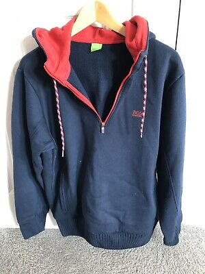 908e44113 HUGO BOSS HOODIE mens red and navy size large - £16.00 | PicClick UK
