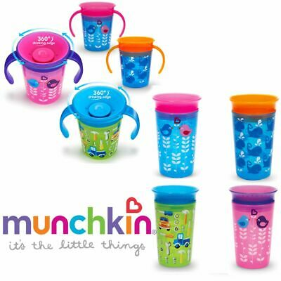 Munchkin Baby Toddler Kid Miracle Deco Sippy Trainer Automatically Seal Cup