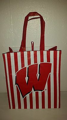 """Wisconsin Badgers COLLEGE CLASSIC HEAVY DUTY TOTE 16"""" X 14"""" NEW"""