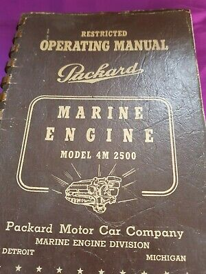 1942 Restricted SECOND EDITION PACKARD MOTOR CAR COMPANY MARINE ENGINE MANUAL