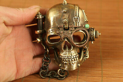 limited edition copper casting chinese skull statue Belt Buckle statue