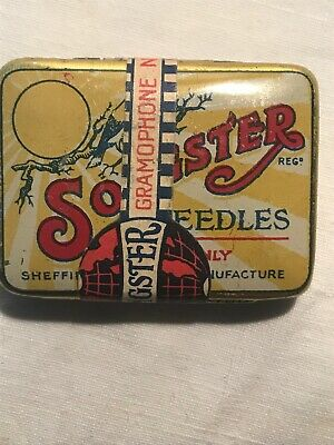 Original Songster Gramophone Needle Tin Sealed With Needles