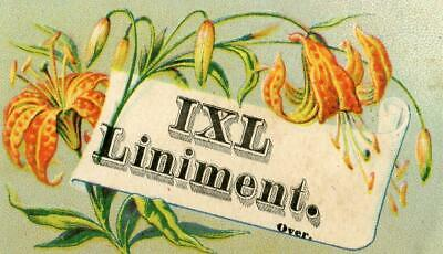1Xl Liniment*quackery*cures Neuralgia Cholera Diphtheria*kimball Co*lewiston Me