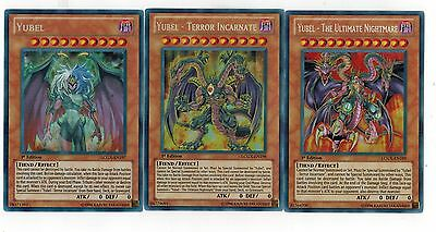 Yubel-The-Terror-Incarnate-Ultimate Nightmare LCGX -EN197-198-199 SECRET Yugioh