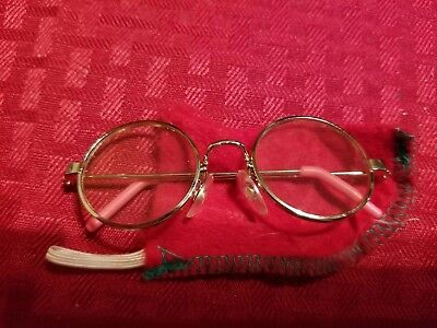 American Girl Silver Wire Rim Eyeglasses Glasses with Case for 18* Doll, Free Sh