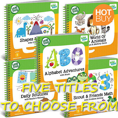 LeapFrog LeapStart Nursery Learning Activity Book Preschool Reading Writing Math
