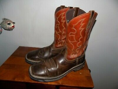 49ccb37541a ARIAT MENS WORKHOG 10005888 Square Soft Toe Western Work Boots SIZE 12 D