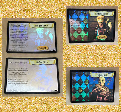 Rare Harry Potter Character Holo Trading Card Pick Ron The Brave Or Argus Filch