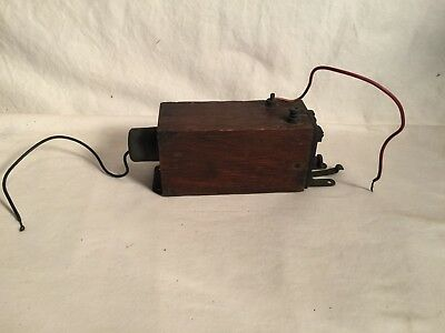 Rare vintage antique MESCO Telegraph Spark Coil WIRELESS wood box