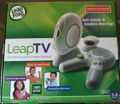 Leap Frog LEAP TV Video Learning System Console White NEW  Active Video Gaming