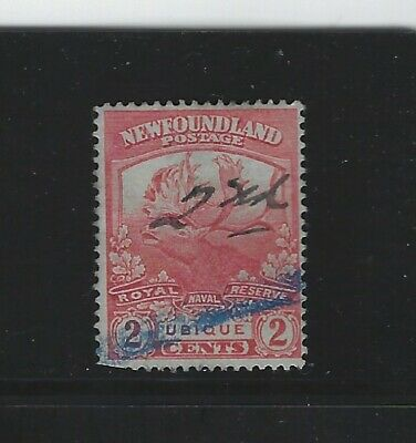 NEWFOUNDLAND - #116 - 2c TRAIL OF THE CARIBOU USED STAMP (1919) BLUE CANCEL
