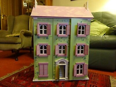 Excellent quality wooden Dolls house with furnishings