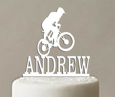 Cake Topper Decoration Bike Birthday Personalised Any Age