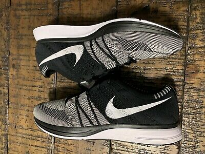 bbc0b2a5d5fc 2018 Men s Nike Flyknit Trainer Oreo AH8396-005 Black White Size 12