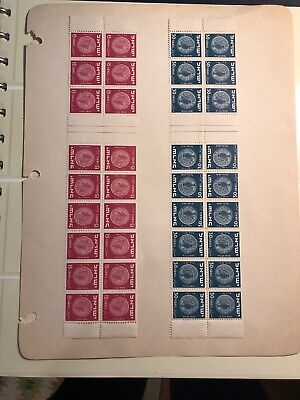 Israel 1949 MERED I Tete Beche pairs and gutters Set of Strips