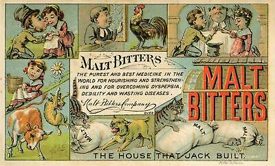 Malt Bitters*house That Jack Built*stimulation Without Intoxication*forbes Litho