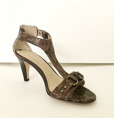 628b279c48e VIA SPIGA SIZE 8 M Aislin Cream Leather T Strap Sandals New Womens ...
