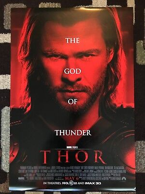 Thor Original Movie Poster 27X40 Double Sided U.S. Final Version 2011 Marvel