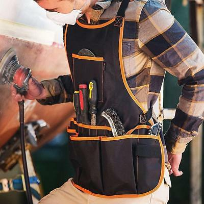 Rig Tool Belt With Suspenders Pouch For Construction Carpenter Holder Pockets 6A