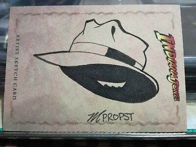 INDIANA JONES Sketch Card Topps 1/1 Mark Propst