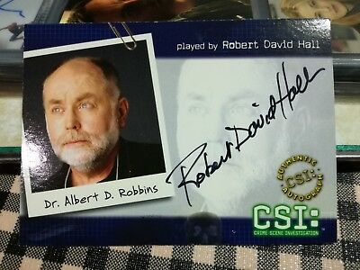 Robert David Hall as DR.ROBBINS Autograph in CSI Series 2