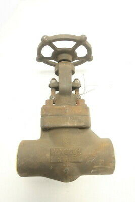 Hancock 5520W-1 Manual Steel Socket Weld Globe Valve 1-1/2in 600
