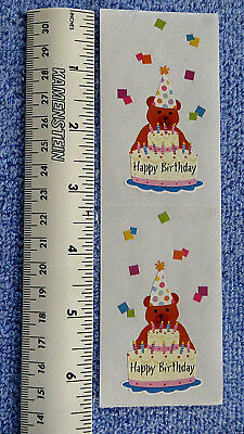 Mrs Grossman PARTY BEAR - Strip of Happy Birthday Scene One Stickers