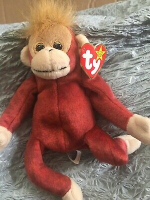 91d759609d3 TY SCHWEETHEART THE ORANGUTAN BEANIE BABY - MINT with MINT TAGS ...