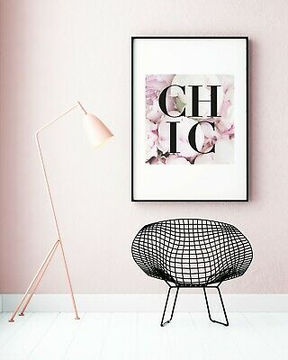 Fashion Quote Print Typography Wall Art Bedroom Decor Floral Pink Poster Prints