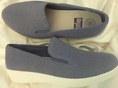 1f3ec503e35 FITFLOP UBERKNIT BALLERINA Crystal Women s Knit Slip-On Lightweight ...