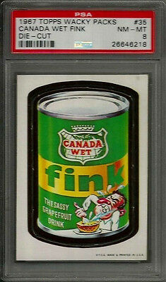 1967 Topps Wacky Packages #35 Canada Wet Fink Die-Cut PSA 8 NM-MT Non-sport Card