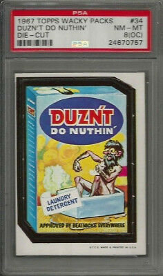 1967 Topps Wacky Packages #34 Duzn't Do Nuthin' Die-Cut PSA 8 (OC) NM-MT Card