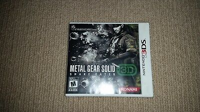 Metal Gear Solid Snake Eater 3D Nintendo 3DS Game, NTSC US VERSION