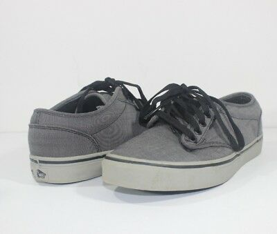 Vans Men Size 8 TB4R Classic Skate Shoe Gray Black Sneakers Off the Wall fdfdb95e2