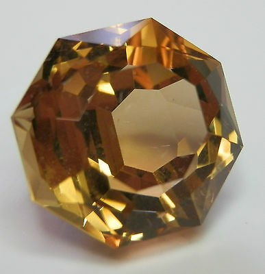 Large natural rich orange citrine octagon gemstone...15.46 Carat