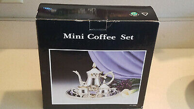 Silver Plated Mini Coffee Set Item #DC-3086 (NEW)