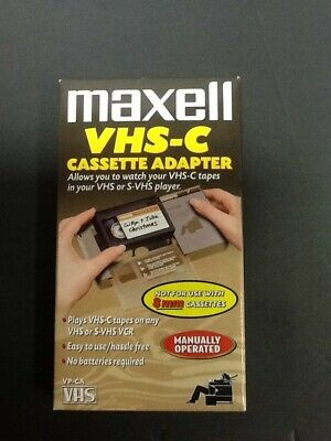 Maxell VHS-C Cassette Adapter VP-CA VHS Video Tape Player Converter Pre-owned