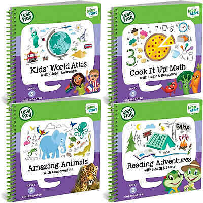 LeapFrog LeapStart Reception Activity Book Reading Math Animal World Atlas Kids