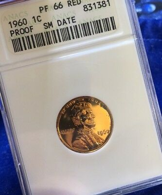 1960-P SMALL DATE Proof  1c ~ ANACS PR66!!  **ULTRA LOW FIXED PRICE !!*