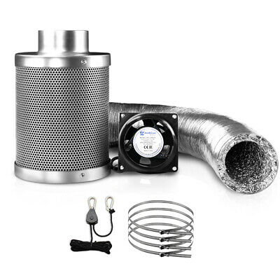 """Greenfingers Hydro Grow Tent Ventilation Kit Vent Fan Carbon Filter Duct 4"""""""