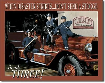 3 Stooges Disaster Garage Vintage Tin Metal Sign Garage/Man Cave Wall Art