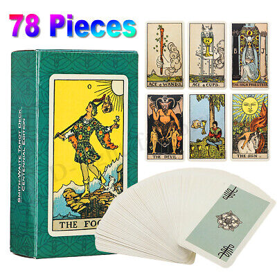 78Pcs Smith Waite Tarot Cards Deck English Full Version Divination Party