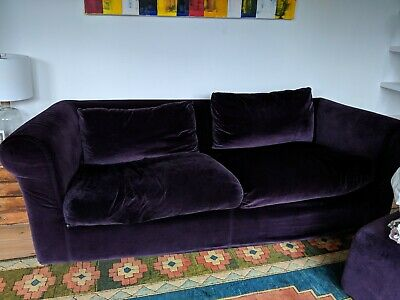 Prime Habitat Louis 4 Seater Sofa Bed Purple Velvet 151 00 Caraccident5 Cool Chair Designs And Ideas Caraccident5Info