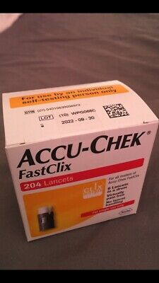 FastClix Accu Chek Lancets 200 + 4 * New Original Pack * Long Expiry Date 2022