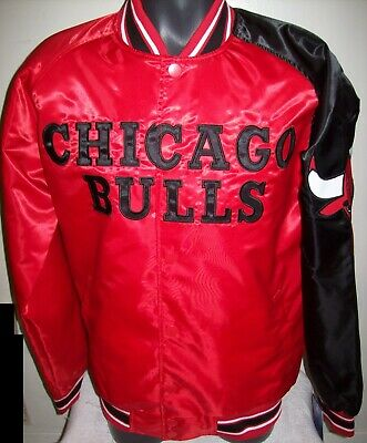 8d9846c6933 CHICAGO BULLS STARTER Snap Down Jacket Sping Edition RED BLACK 3X 4X 5X 6X