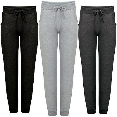 Ladies Womens Slim Fit Tracksuit Bottoms Skinny Jogging Joggers Pants Trousers