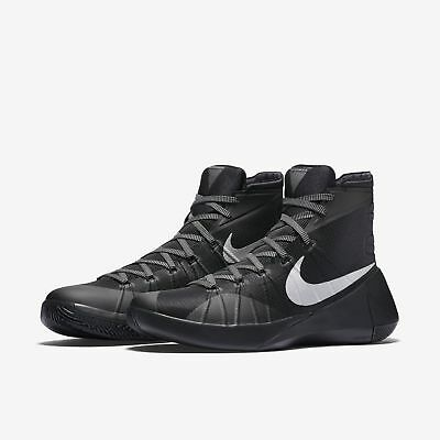 huge selection of c18eb 0a50d New Nike Mens Hyperdunk Basketball Shoes Black Metallic Silver Trainers UK 7